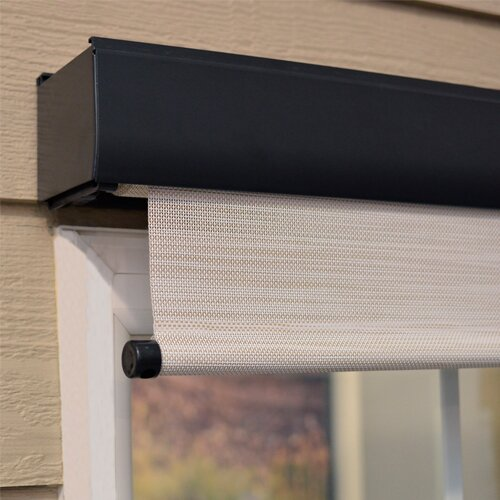 Premium Motorized Outdoor Solar Shade Reviews Birch Lane