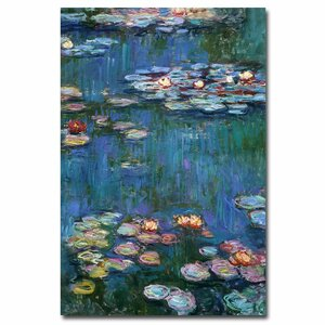 Waterlilies Classic by Claude Monet Painting Print on Canvas by Trademark Fine Art
