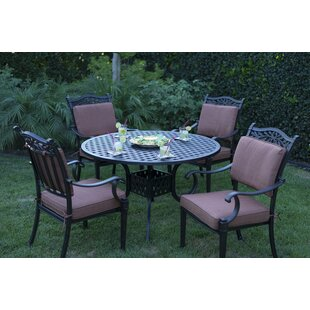 Fairmont 5 Piece Dining Set with Cushions By Astoria Grand
