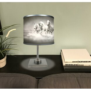 Price comparison Caterina White Horses 16.88 Table Lamp By Loon Peak