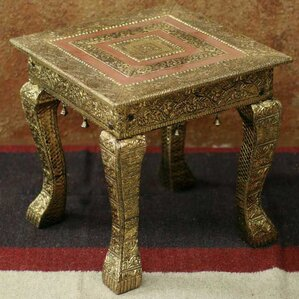 Golden Garland End Table by Novica