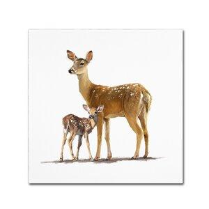 'Deer' Print on Canvas by Trademark Fine Art