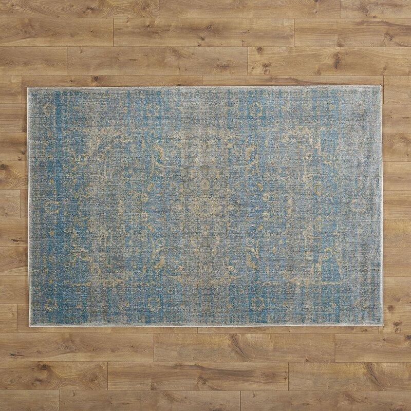 Jonas Teal Blue/Mustard Beige Area Rug & Reviews