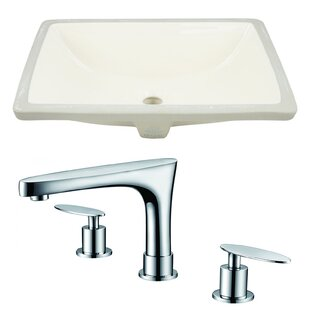 Best Ceramic Rectangular Undermount Bathroom Sink with Faucet and Overflow By Royal Purple Bath Kitchen