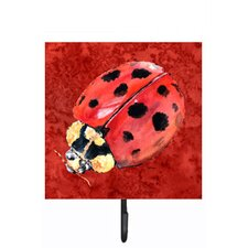 Lady Bug on Deep Leash Holder and Wall Hook by Caroline's Treasures
