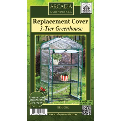 Mini Greenhouse Replacement Cover Arcadia Garden Products Size: 3-Tier