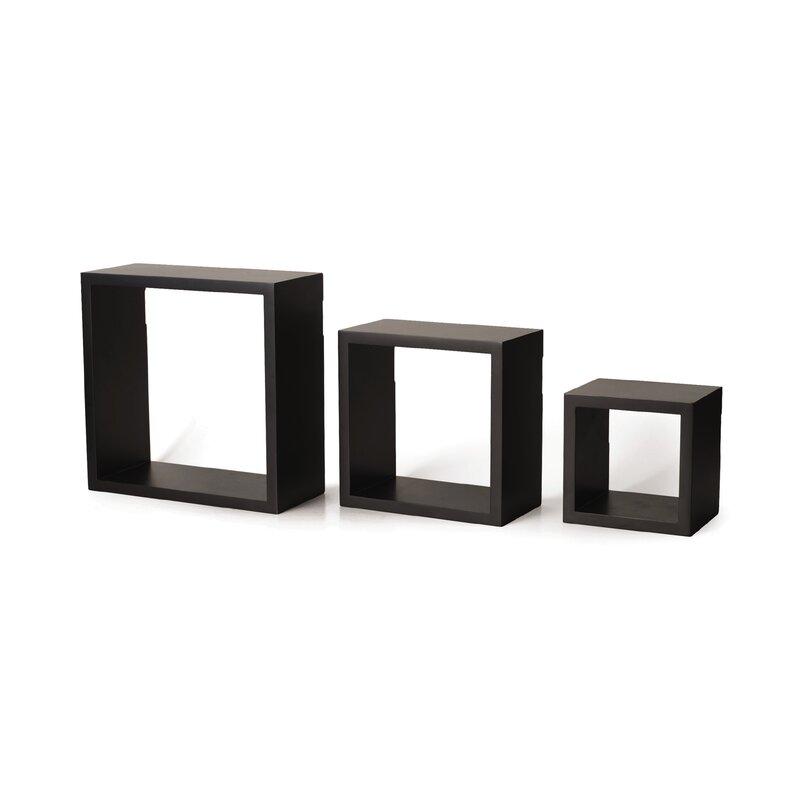 3 Piece Square Shelf Set