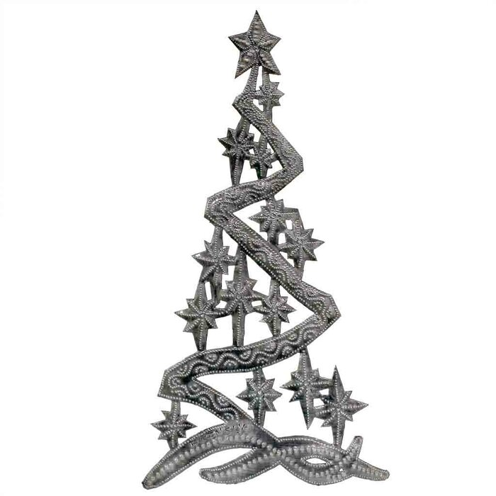 Christmas Drum Decor.Christmas Tree Metal Wall Decor