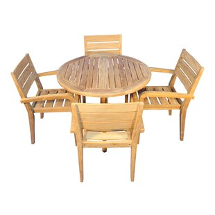 Encinas 5 Piece Teak Dining Set By Regal Teak