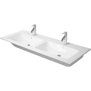 Online Reviews Me by Starck Ceramic Rectangular Vessel Bathroom Sink with Overflow By Duravit