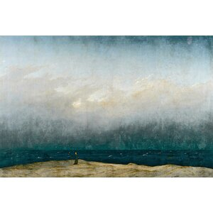 'Monk by sea, 1809' by Caspar David Friedrich Painting Print on Wrapped Canvas by East Urban Home