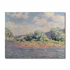 The Seine at Port Villez by Claude Monet Painting Print on Canvas by Trademark Fine Art