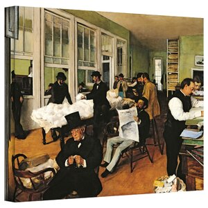 'The Cotton Office, New Orleans' by Edgar Degas Painting Print on Wrapped Canvas by ArtWall