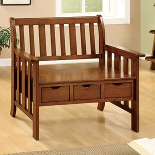Chellsey Wood Storage Entryway Bench