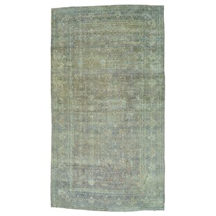 One-of-a-Kind Gamez Persian Kerman Even Wear Oriental Hand-Knotted Brown Area Rug