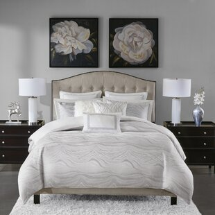 Merveilleux Hollywood Glam Jacquard Metallic Comforter Set