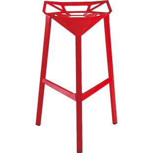 Modern Red Bar + Counter Stools