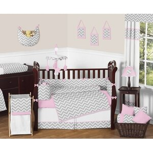 Zig Zag 9 Piece Crib Bedding Set