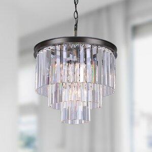 justina 5light mini crystal chandelier