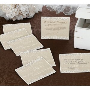 Country Lace Guest Card (Set of 48)