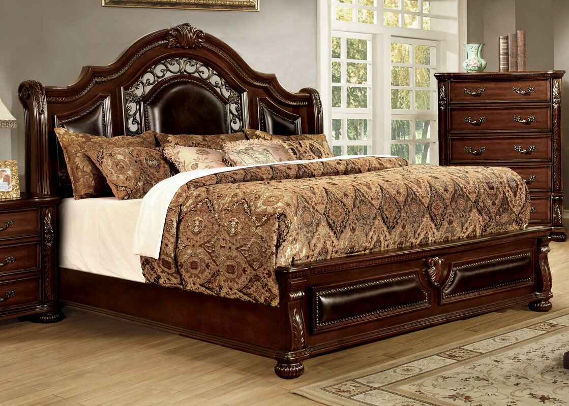 barrus upholstered sleigh bed