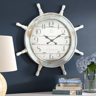 Sargentville 28 Distressed Nautical Anchor Wall Clock