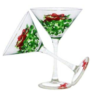 unique martini glasses futuristic drouin mistletoe martini oz glass every day set of 2 glasses youll love wayfair