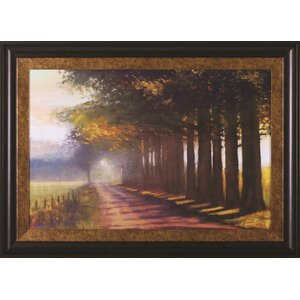 Sunset Highway by Amanda Houston Framed Painting Print by Art Effects