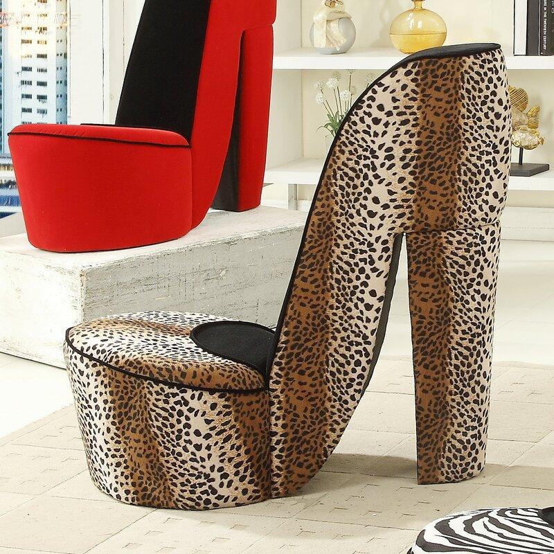 Leopard High Heel Lounge Chair