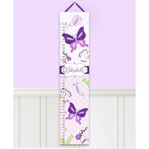 Butterfly Garden Personalized Canvas Growth Chart by Toad and Lily