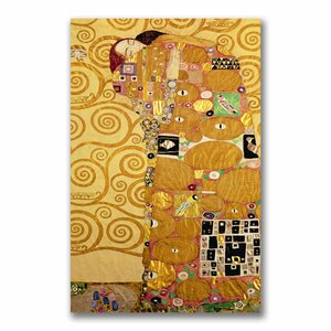 Fulfillment by Gustav Klimt Painting Print on Wrapped Canvas by Trademark Global