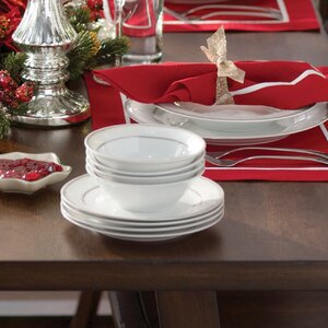 Racconigi Porcelain 24 Piece Dinnerware Set, Service for 4