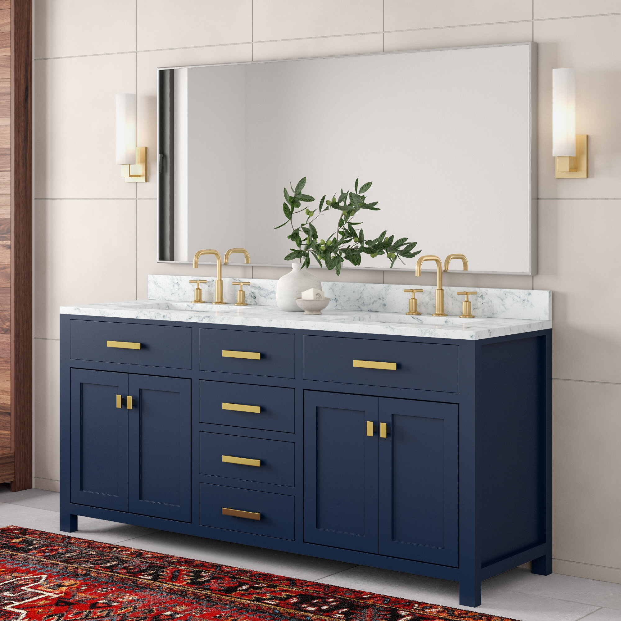 Rachelle 72 Double Bathroom Vanity Set Reviews Allmodern