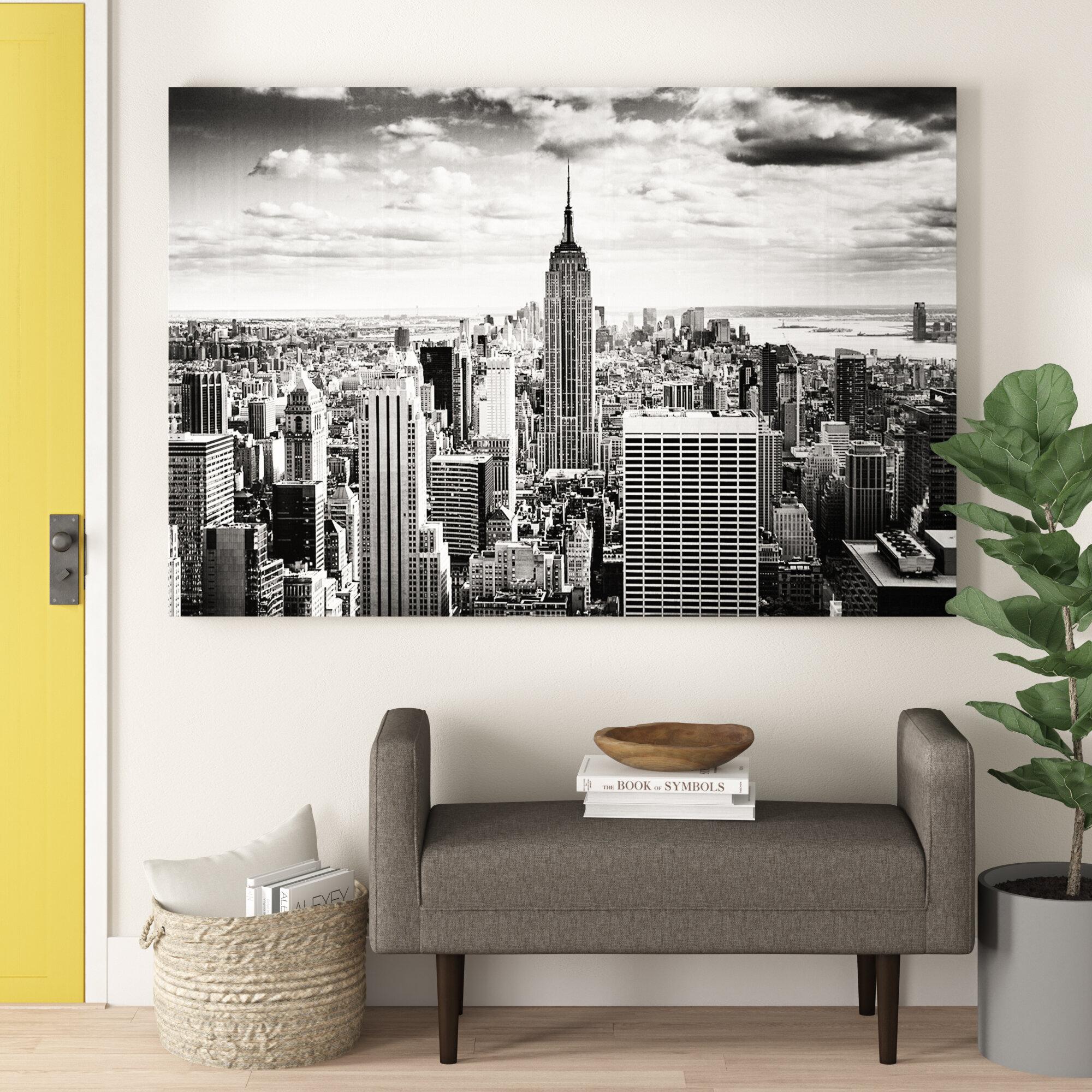 urban wall art Rockefeller Center New York print New York poster modern home decor New York black and white photography prints