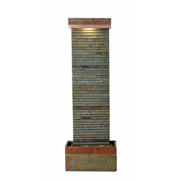 Trickle Natural Stone Indoor/Outdoor Floor Fountain & Reviews | Joss & Main