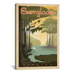Everglades National Park by Anderson Design Group Vintage Advertisement on Canvas by iCanvas