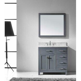 Savitsky 36 Single Bathroom Vanity Set with Mirror ByLatitude Run