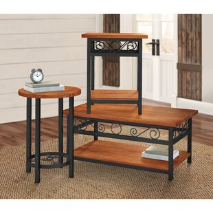 Carrollton 3 Piece Coffee Table Set Loon Peak
