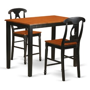 Affordable Yarmouth 36 3 Piece Pub Table Set ByEast West Furniture