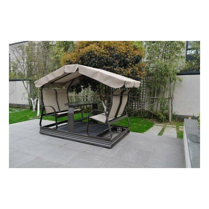 Tenorio Glider Porch Swing with Stand