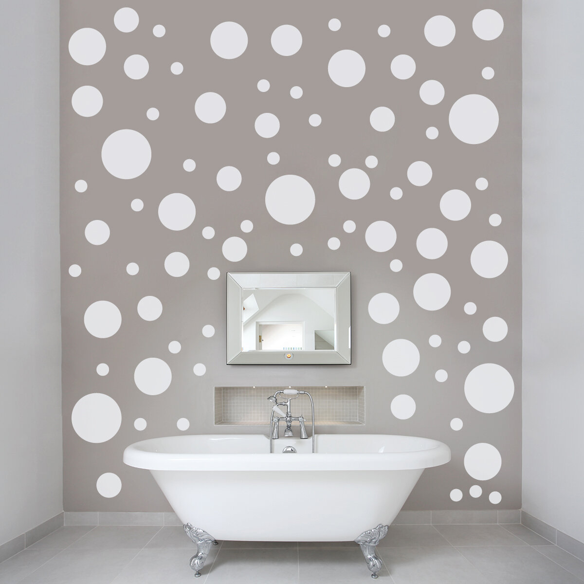 Wallums Wall Decor Polka Dots Wall Decal Reviews Wayfair