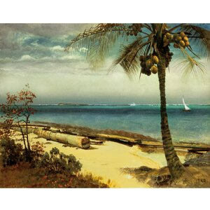Tropical Coast by Albert Bierstadt Painting Print on Wrapped Canvas by Portfolio Canvas Decor