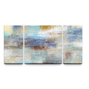 'Coast to Coast' 3 Piece Painting Print on Wrapped Canvas Set by Artefx Decor