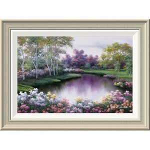 'Springtime Symphony' by Diane Romanello Framed Painting Print by Global Gallery