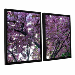 Spring Flowers by Dan Wilson 2 Piece Framed Photographic Print on Canvas Set by ArtWall