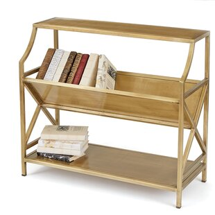 Periodical Two Shelf Standard Bookcase Hip Vintage