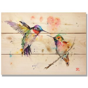 'Love Birds' by Dean Crouser Painting Print on Wood by Daydream HQ