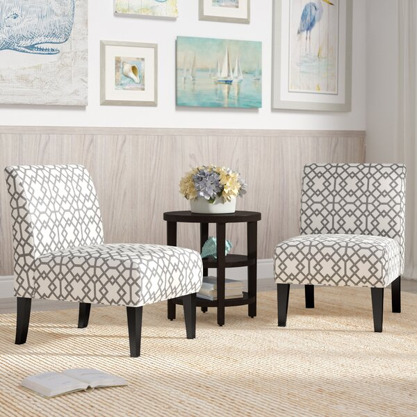 Set Of 2 Leather Accent Chairs Wayfair