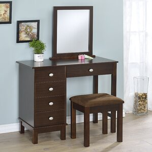 Gannaway Vanity Set with Mirror by Alcott Hill