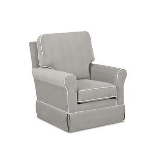 Bridgeport Swivel Glider with Contrasting Welt by Wayfair Custom Upholstery™